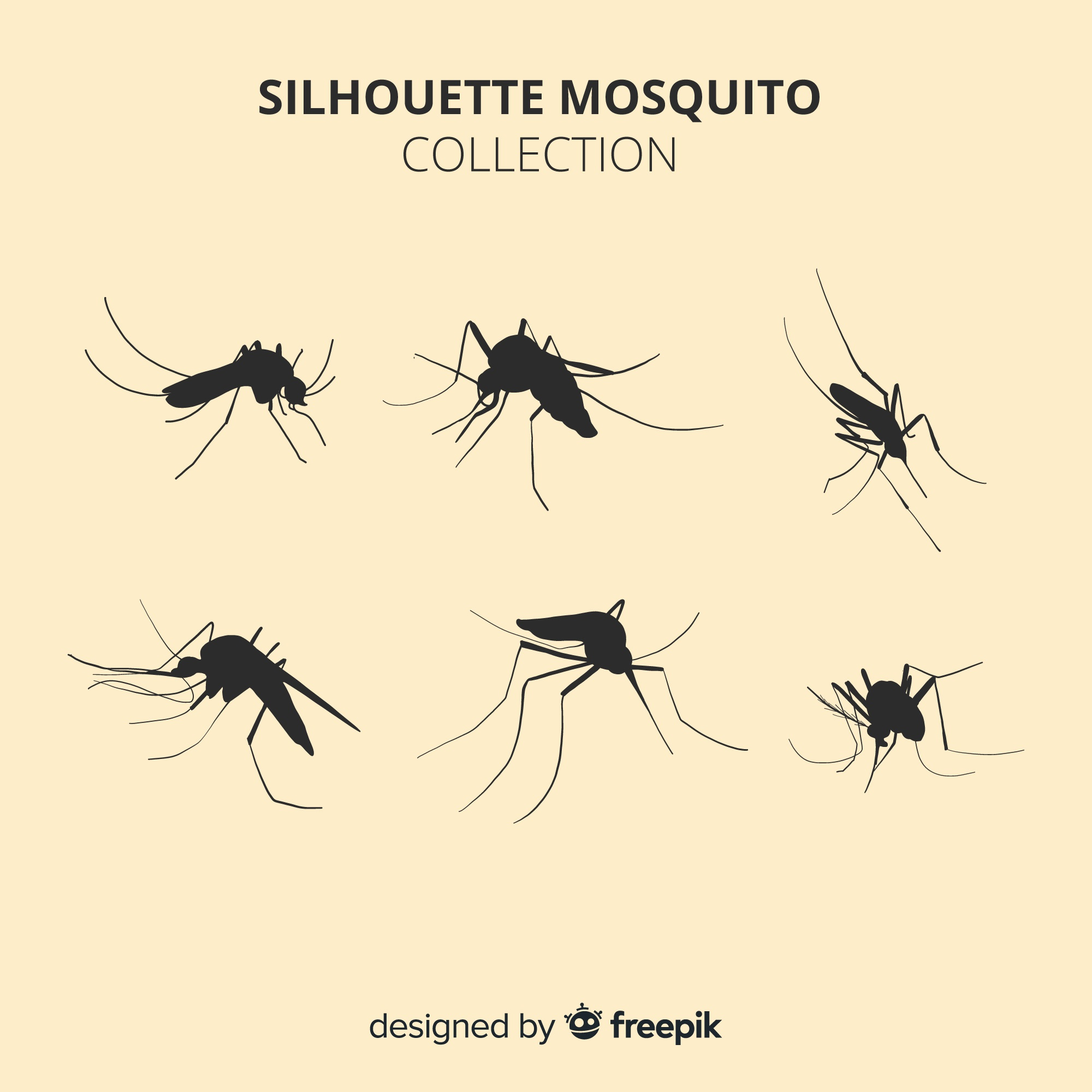 Creative mosquito silhouette pack