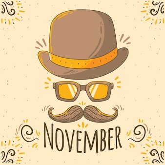 Creative movember design with hat