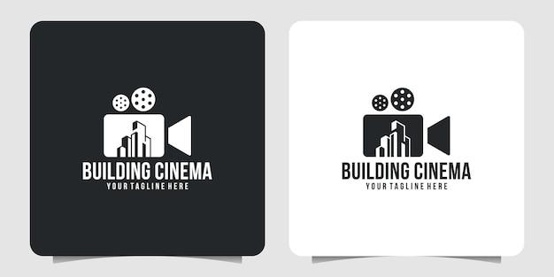 Creative movie cinema logo and building logo design