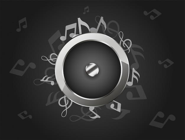 Creative music background with audio speaker.