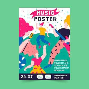 Creative music poster template