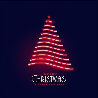 クリエイティブネオン輝くクリスマスツリーデザイン