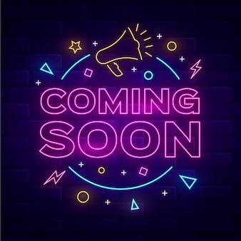 Creative neon teaser background