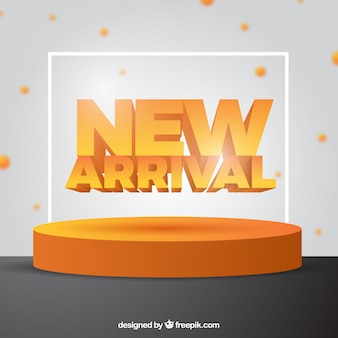 Creative new arrival background