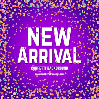 Creative new arrival confetti background