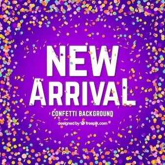 Creative new arrival confetti background