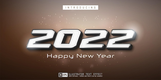 Creative new year banner with editable 2021 numbers
