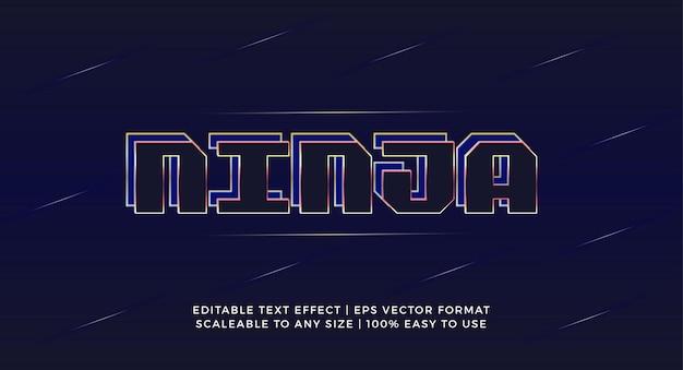 Эффект текста заголовка creative ninja