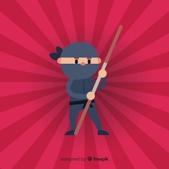 Creative ninja warrior background
