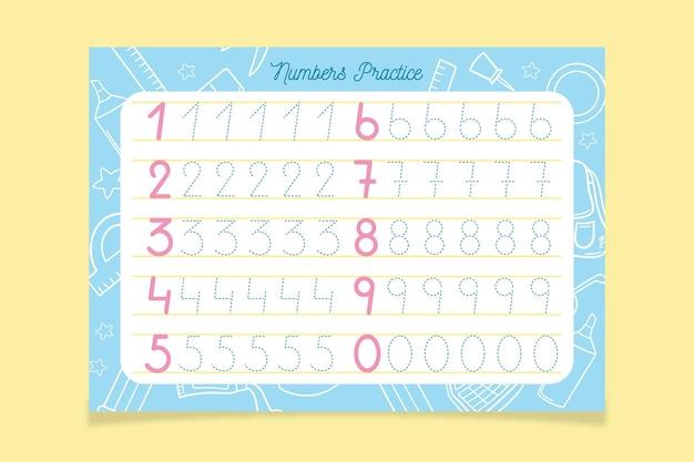 크리에이티브 번호 추적 템플릿