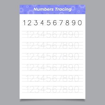 크리에이티브 번호 추적 워크 시트 템플릿