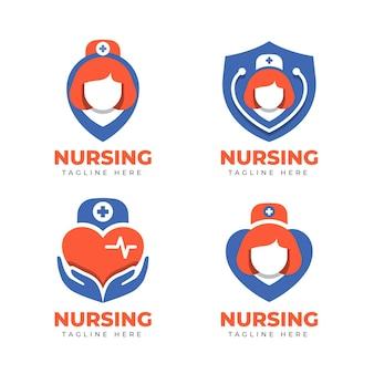 Creative nurse logo templates