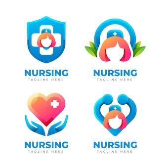 Креативные шаблоны логотипов медсестры