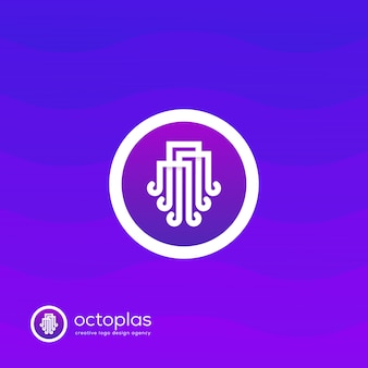 Creative octopus logo
