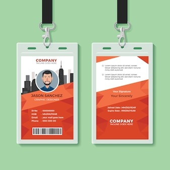 Шаблон идентификационной карточки creative office