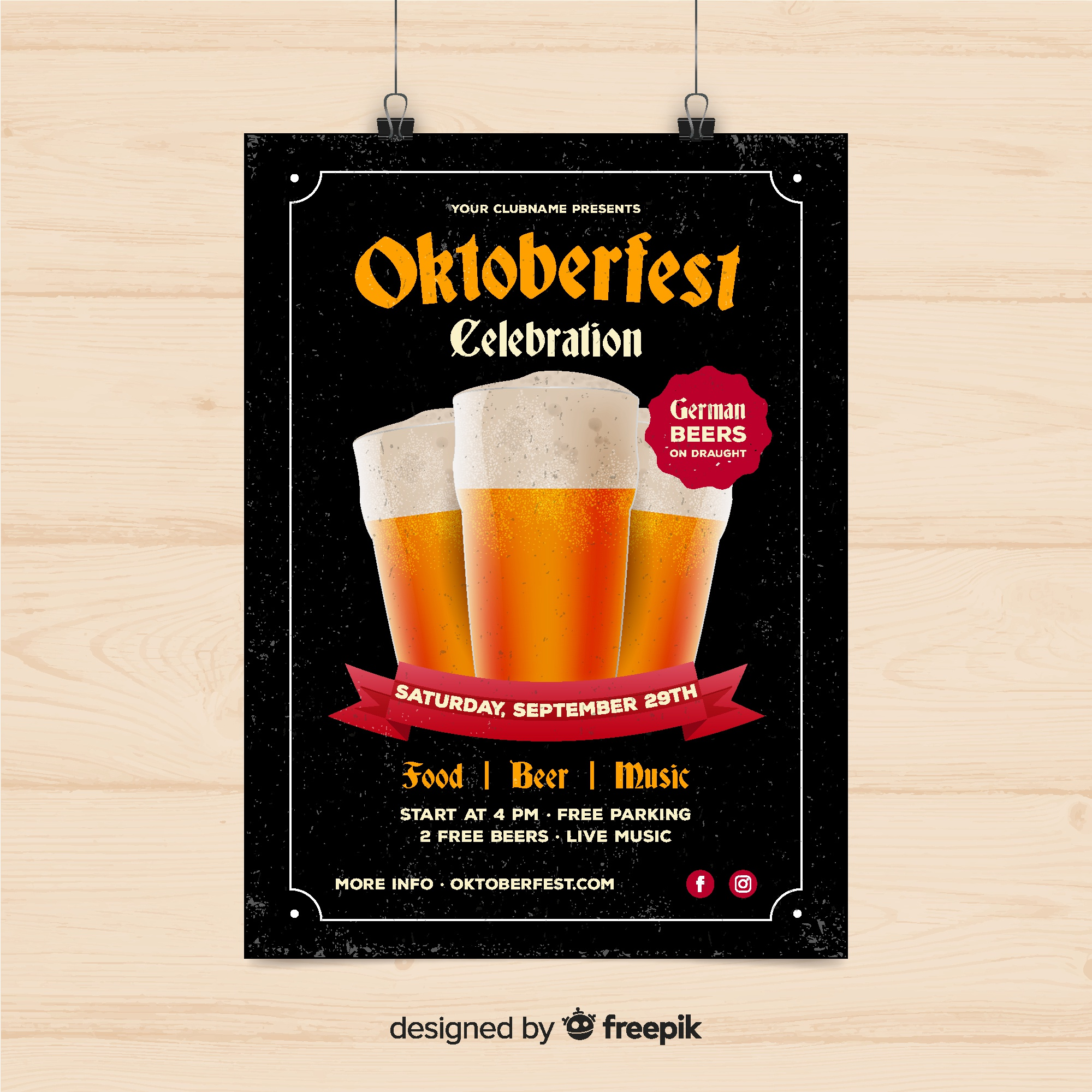 Creative oktoberfest cover template