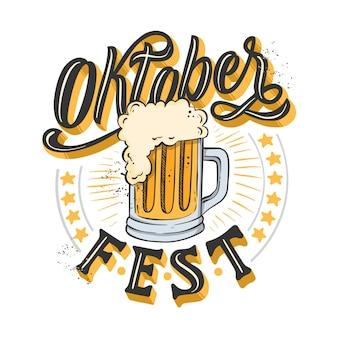 Creative oktoberfest event lettering