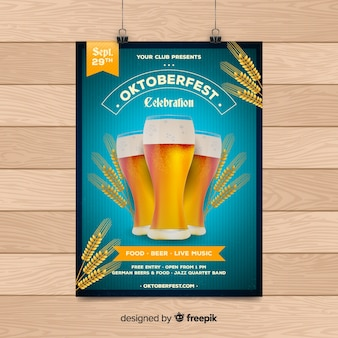 Creative oktoberfest flyer template