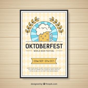 Creative oktoberfest flyer template