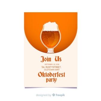 Creative oktoberfest poster mockup