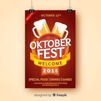 Creative oktoberfest poster template