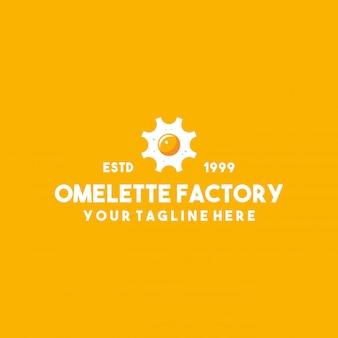 創造的なオムレツ工場プレミアムロゴデザイン