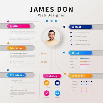 Creative online cv template
