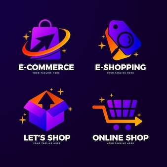 Creative online shop logo templates