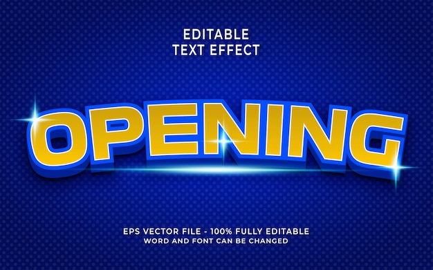 Creative opening text effect