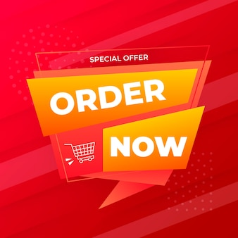 Creative order now banner