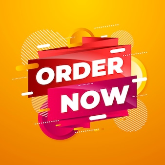 Creative order now promo banner