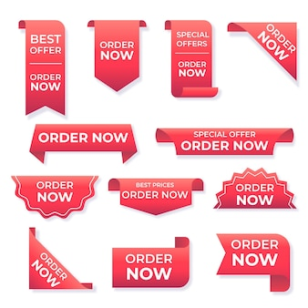 Creative order now stickers collection