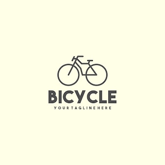 Creative outline bicycle logo