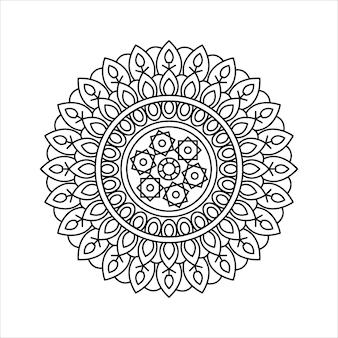 Creative outline mandala