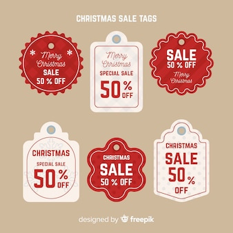 Creative pack of christmas sale tags
