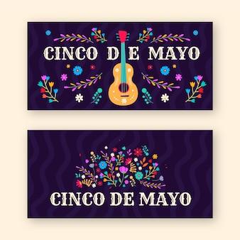 Creative pack of cinco de mayo banners
