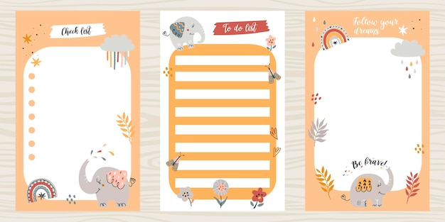 Creative pack of to do lists