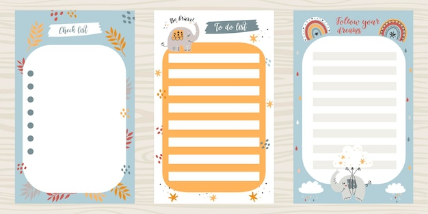 Creative pack of to do lists.