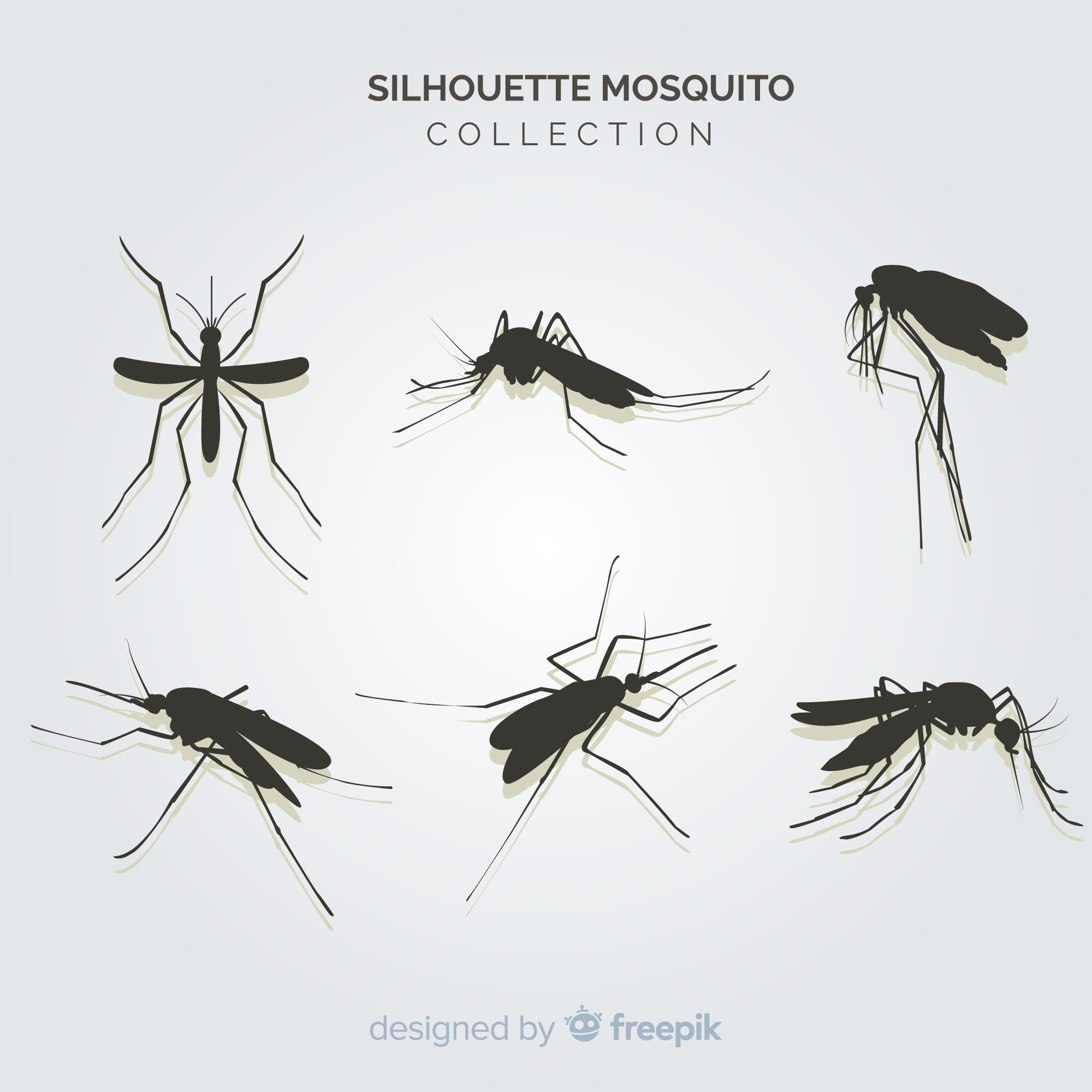 Creative pack of mosquito silhouettes