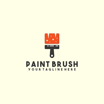 Креативный логотип кисти