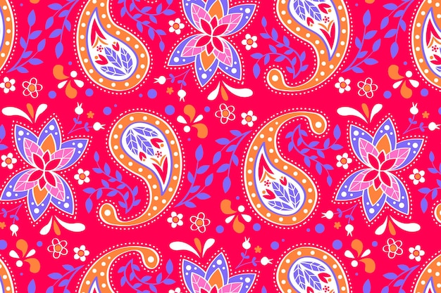 Creative paisley pattern background