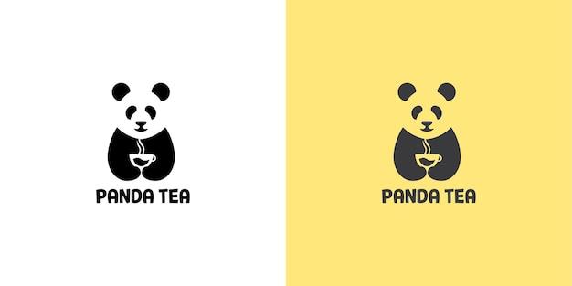 Креативный дизайн логотипа panda tea