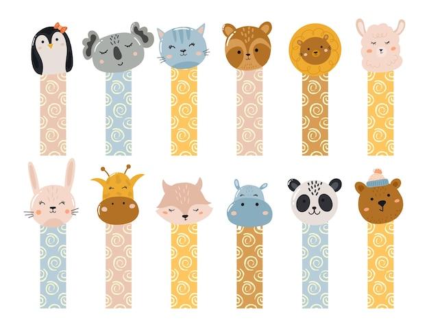 動物との創造的な紙テープステッカー