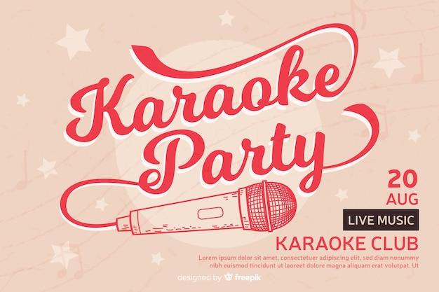Креативная вечеринка баннер для караоке Premium векторы