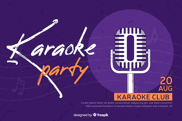 Creative party banner for karaoke