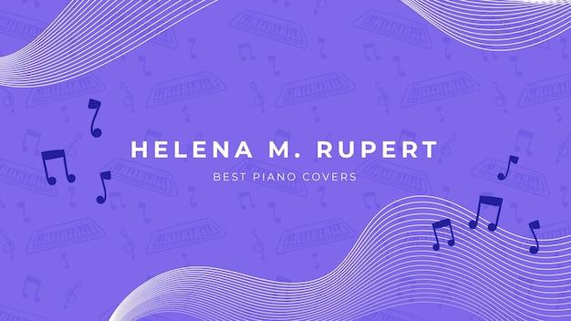Творческий шаблон музыка канал youtube искусство