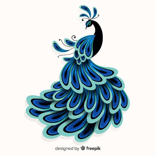 Free Creative Peacock Design Svg Dxf Eps Png Cut File Icon Free Download