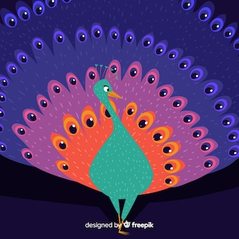 Creative peacock design