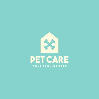 Creative pet clinic house logo