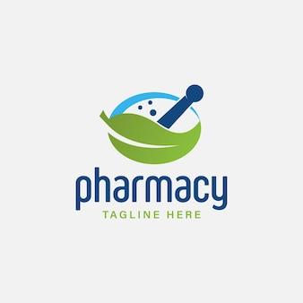 Креативная аптека концепция дизайна логотипа векторные иллюстрации